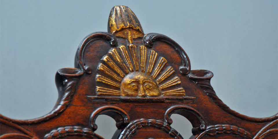 Color Photo Showing Close Up Of Sun, Liberty Pole, And Liberty Cap Carved  Into