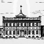Detail of the State House in 1812.