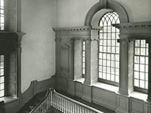 Interior View Of Large Venetian Window And Staircase Inside Independence  Hall.