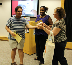 Student receives Declaration at graduation