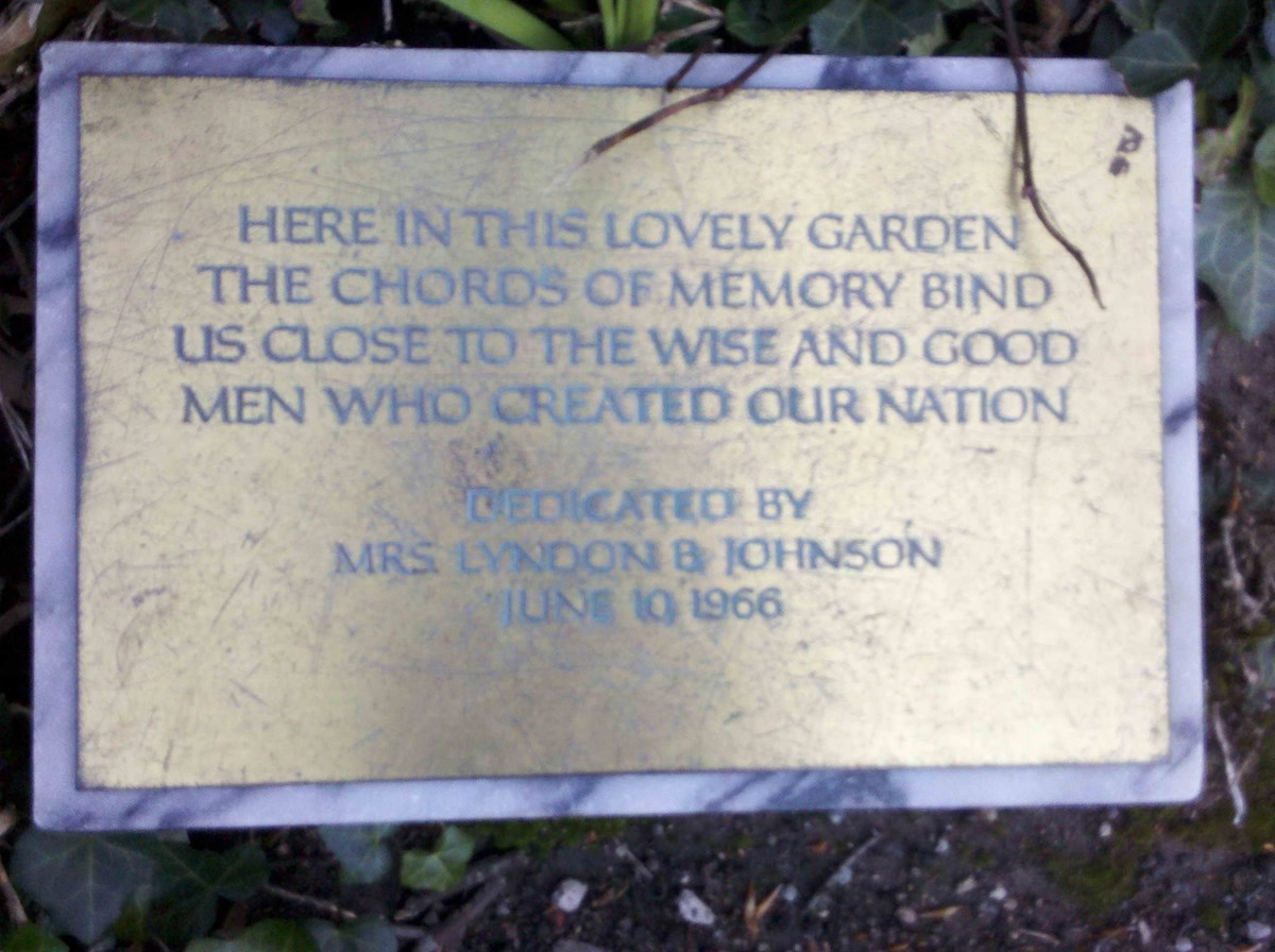 18th century garden plaque