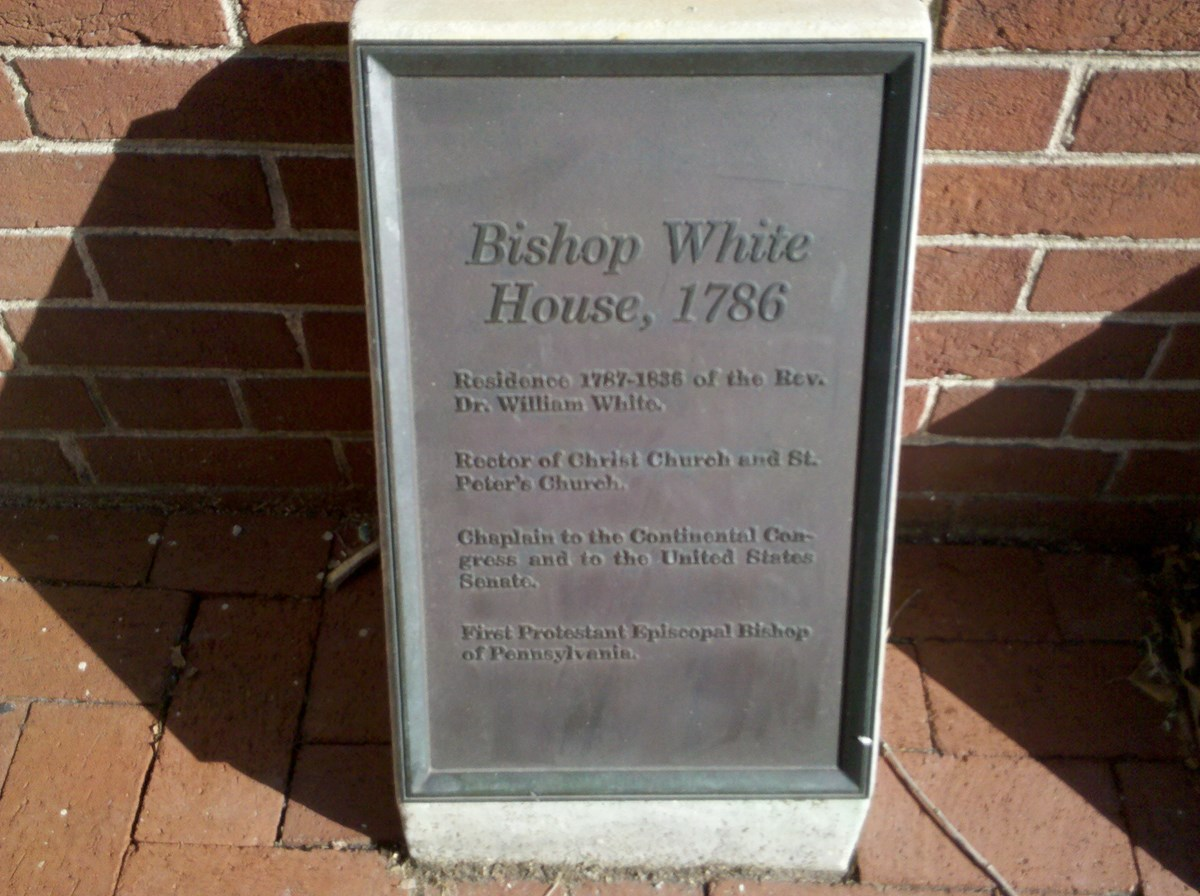 bishop white plaque