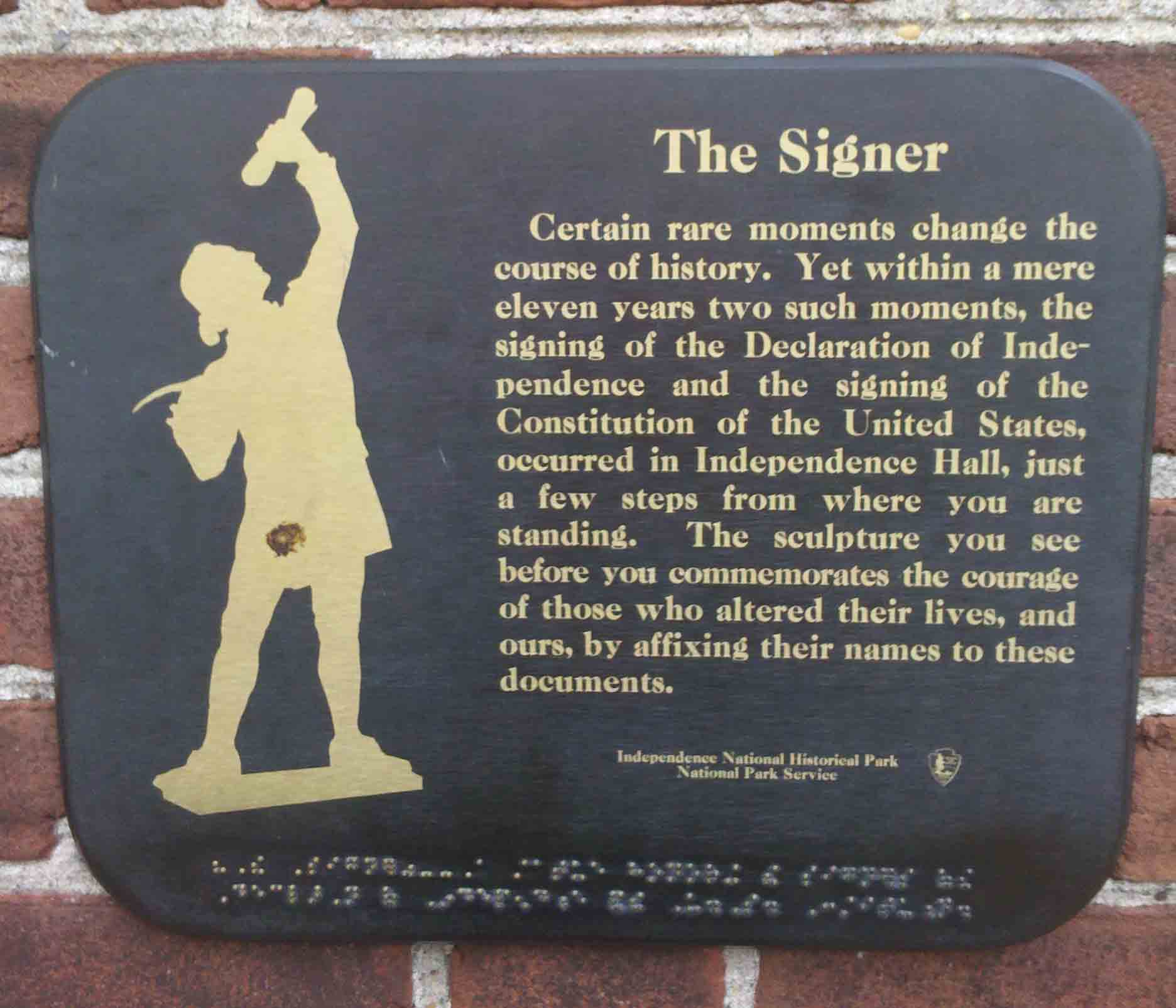 Plaques and Statues in the Park - Independence National ...
