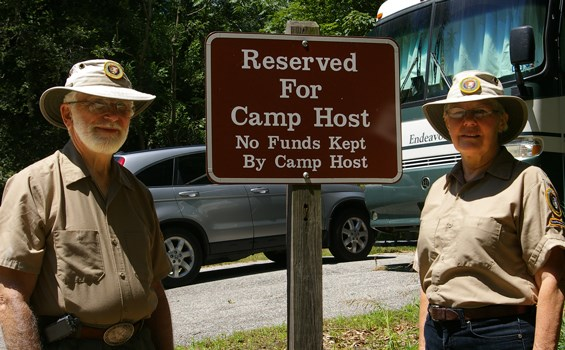 Photo of Camp Host Volunteers