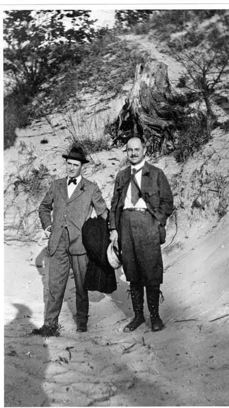 Stephen Mathers (right) and Henry Cowles (left) taking a picture together.