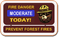 Fire Danger Ratings Sign