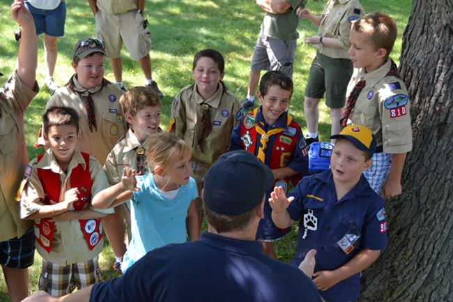 Junior Firefighter with Cub Scouts