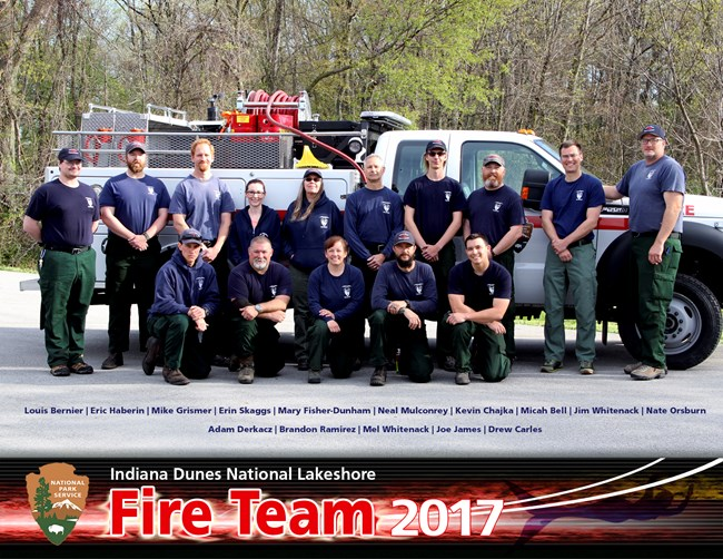 Indiana Dunes Fire Management Staff 2017