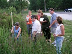 Dr. Joy Marburger teaches citizen scientists to collect data for U.S.G.S. sponsored purple loosestrife research project