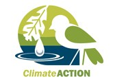 Chicago Wilderness Climate Action logo featuring small bird, water drop, and oak leaf