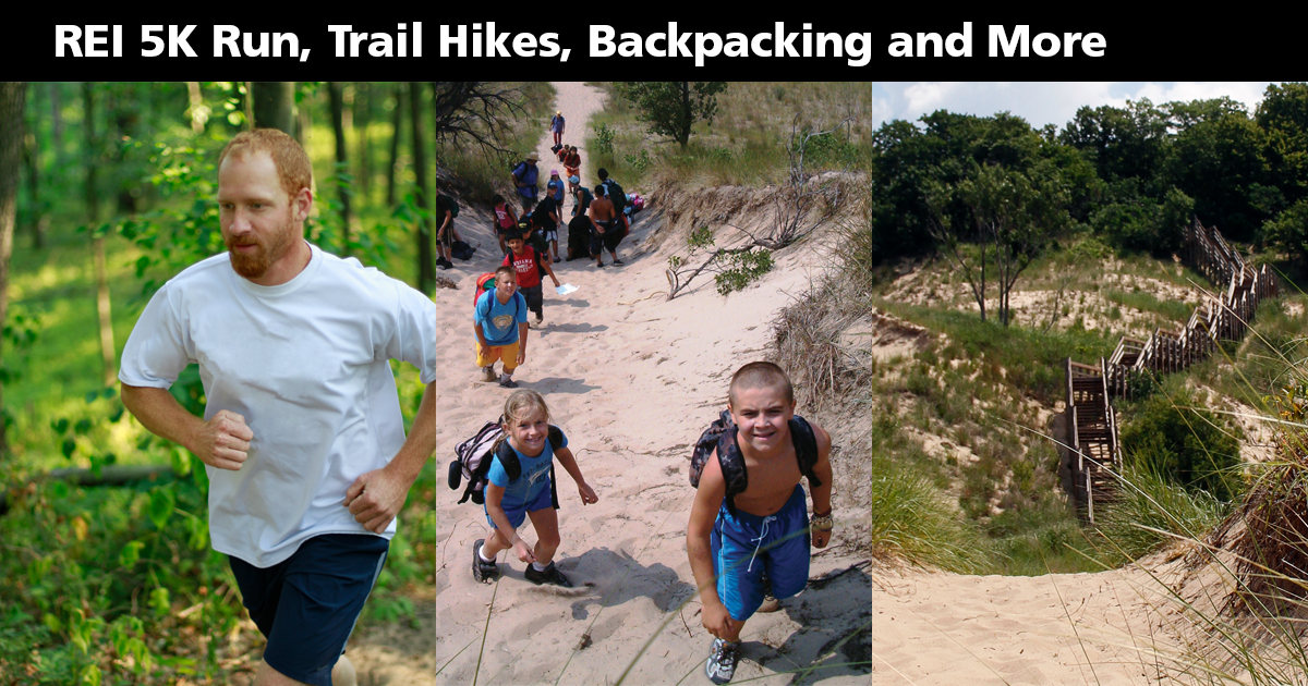 Celebrate National Trails Day at Indiana Dunes National Lakeshore's West Beach on Saturday, June 3 from 8:00 am to 2:00 pm.