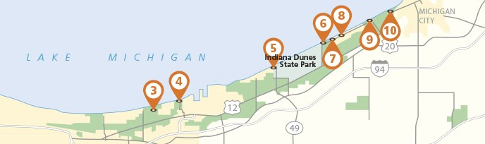 Michigan And Indiana Map.Maps Indiana Dunes National Park U S National Park Service