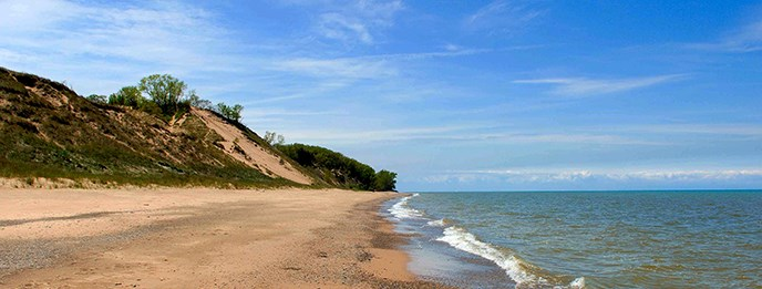 Central Avenue Beach At Indiana Dunes National Lakes