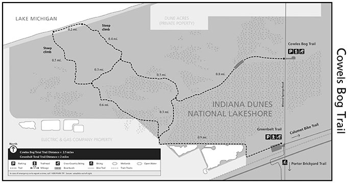 Cowles Bog Trail System Indiana Dunes National Lakeshore Us: Indiana Dunes State Park Map At Codeve.org
