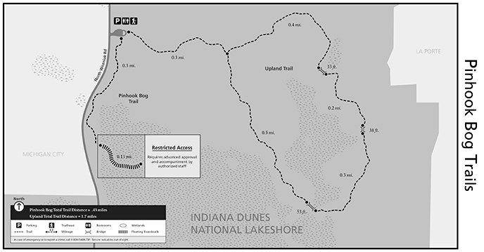 Upland Indiana Map.Pinhook Trail System Indiana Dunes National Park U S National