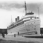 South American ship visits Mott Island in 1946