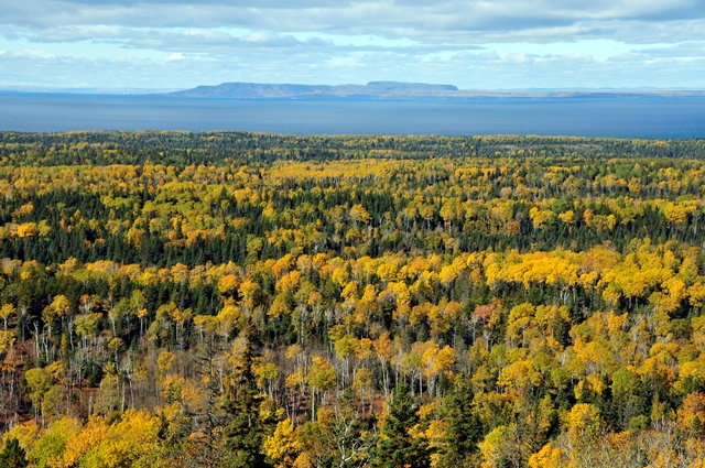 view from Isle Royale