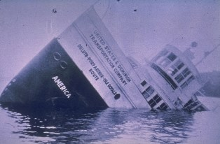The wreck of the America.