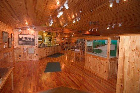Inside the Windigo visitor center.