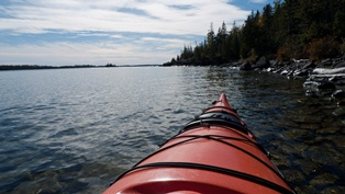 Kayaker's view of Rock Harbor Channel