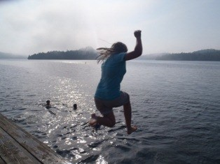 Youth jumps into the chilly waters of Lake Superior