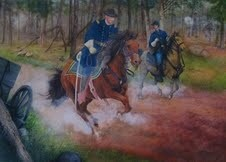 """General Garfield at Chickamauga"" by Amy Lindenberger (work in progress)."