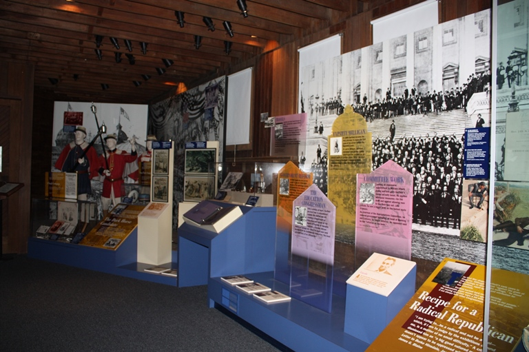Exhibits in the Visitor Center