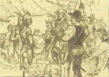 early encounters between the american indians First encounters: native americans and europeans  perhaps 350,000 to one million american indian people lived in florida in the early 1500s these people shared .