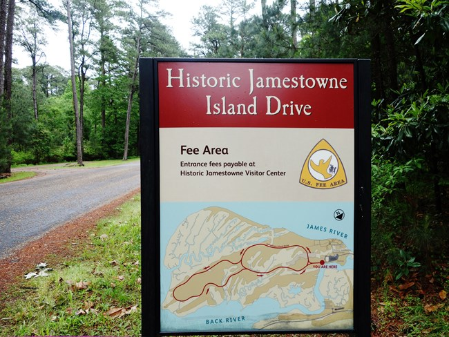 Historic Jamestown Island Drive Fee Area