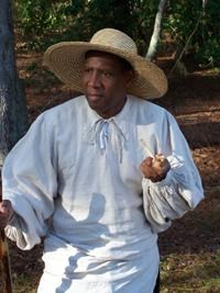 Jerome Bridges protraying Anthony Johnsome an African-American at Jamestown
