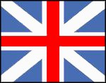 Union Flag 1606-1801: combination of English and Scottish National flags