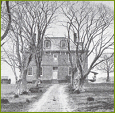 Jamestown's Ambler mansion, photographed at the end of the 19th century