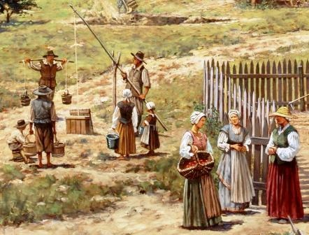 Women at Jamestown, c. 1630