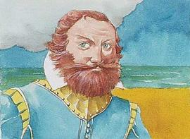 Water color of Captain John Smith
