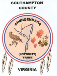 Cheroenhaka (Nottoway) Tribal seal as seen on their website.