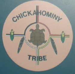 Chickahominy Tribal seal as seen in the Historic Jamestowne Visitor Center exhibit about the Chickahominy Indians.