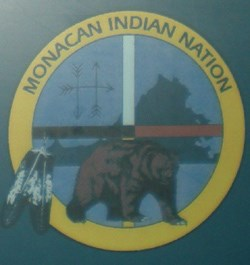 Monacan Nation tribal seal as seen in the Historic Jamestowne Visitor Center exhibit on the Monacan.