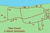 Site map of New Towne