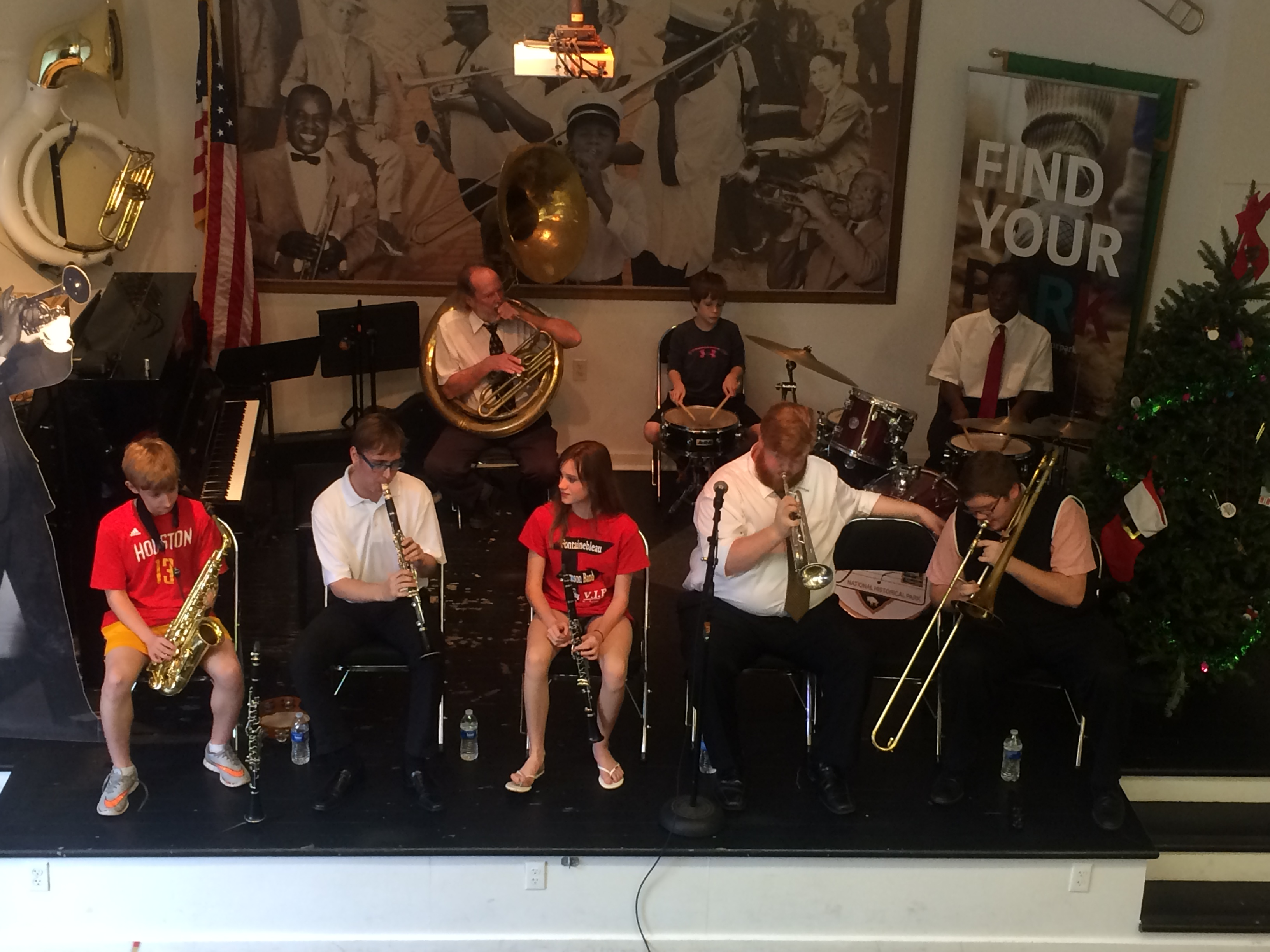 Red Hot Brass Band performs for Music for All Ages