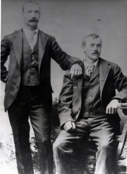 Portrait of Frank and Albert Michaud, discoverers of Jewel Cave.