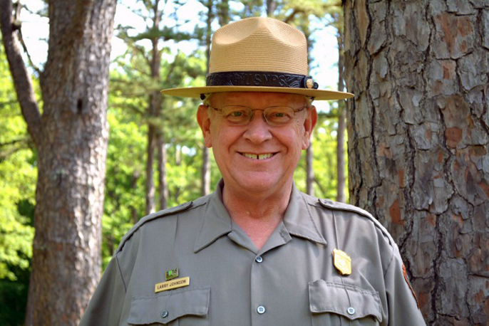 Photo of Jewel Cave Superintendent Larry Johnson, recently selected as superintendent of Ozarks National Scenic Riverways.