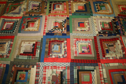 Late 19th Century Log Cabin Style Quilt Gateway Arch