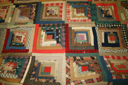 Late 19th Century  Log Cabin  Style Quilt - Gateway Arch National ... : log cabin style quilts - Adamdwight.com