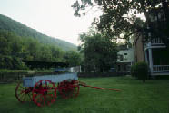 Photo of wagon at Harpers Ferry