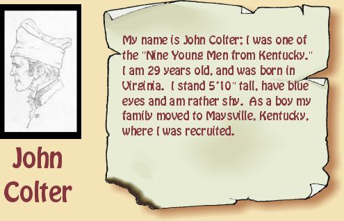 Drawing of John Colter