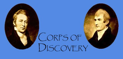 Corps of Discovery banner with pictures of William Clark and Meriwether Lewis