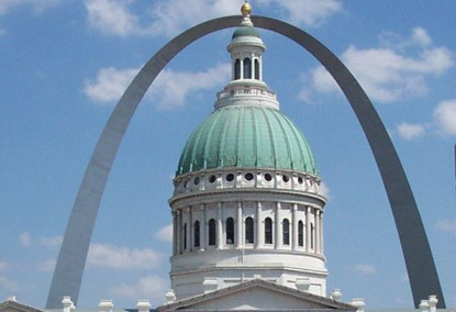 The Old Courthouse and Gateway Arch
