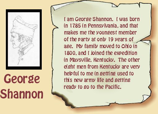 Drawing of George Shannon.