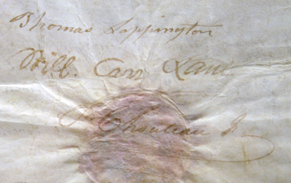 Signatures on Old Courthouse deed