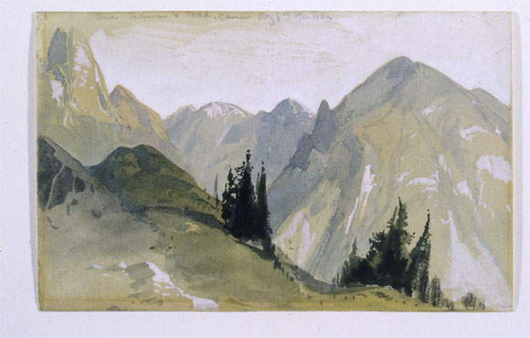 Thomas Moran Watercolor Artifact Of The Month For April